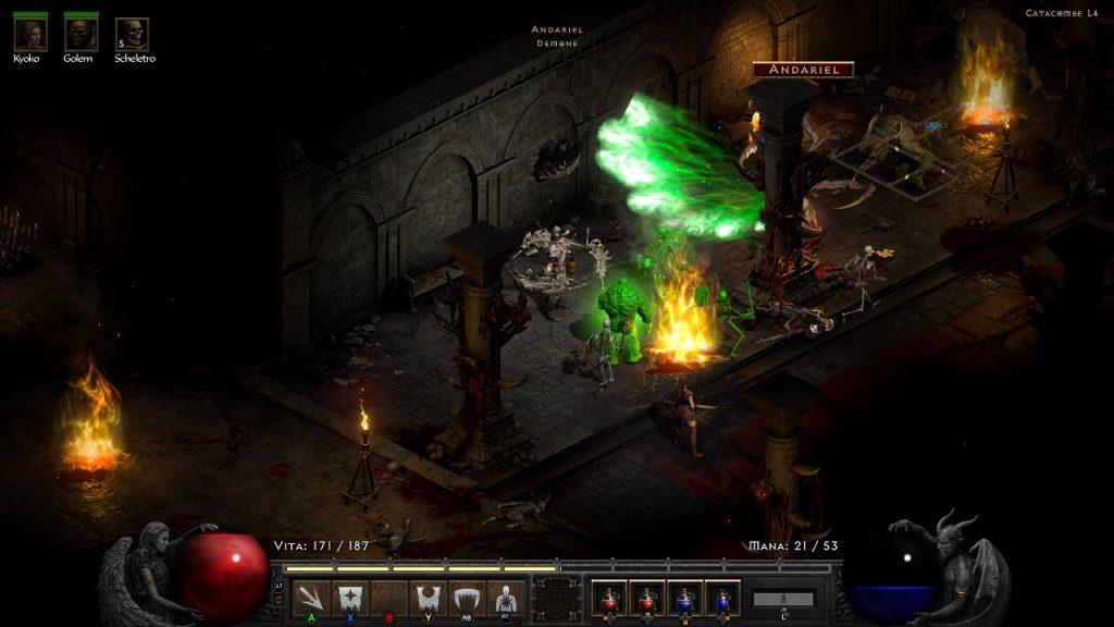 Andariel in Diablo 2 Resurrected