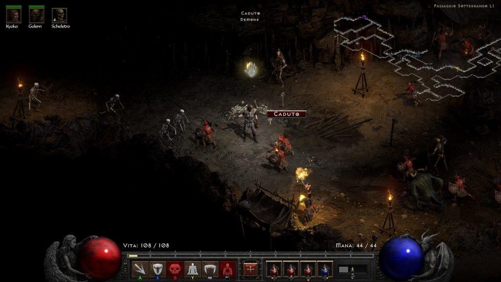 Dungeon in Diablo 2 Resurrected