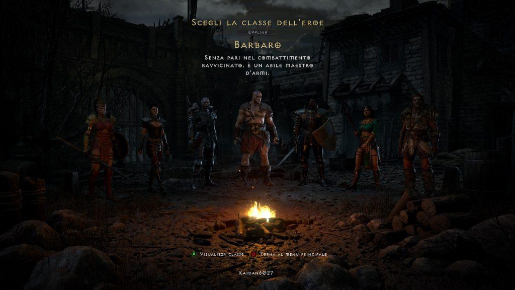 Scelta personaggi in Diablo 2 Resurrected