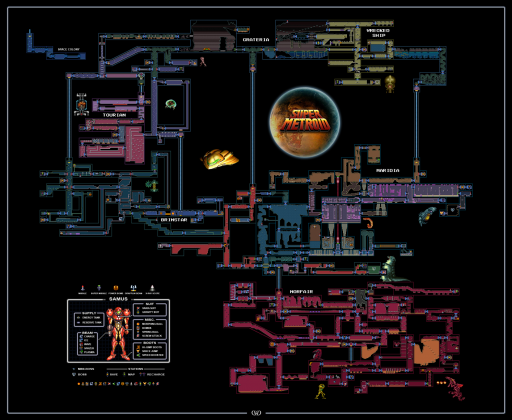 "Super Metroid: una storia così complessa in una mappa così ""semplice""."